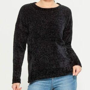 Seven for All Mankind Dark Gray Chenille Sweater